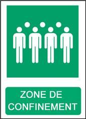 Panneau  Zone de Confinement