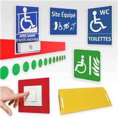 Signalétique de sécurité Handicap