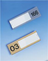 Plaque porte-étiquette numérotée