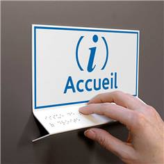 Support tactile en braille - Accueil