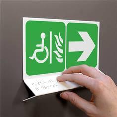 Support tactile en braille - Espace d´attente sécurisé à droite