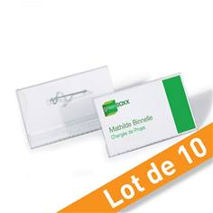 Porte-badges éco avec épingle - Lot de 10