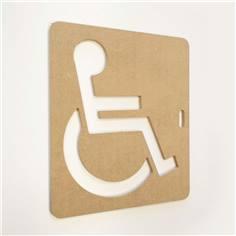 Pochoir Handicapés PMR en Bois pour marquage au Sol