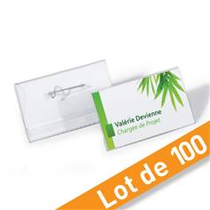 Porte-badges éco à épingle - Lot de 100