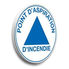 Panneau Point d´aspiration d´incendie rond - Alu galvanisé - Classe 1 - Ø 450 mm