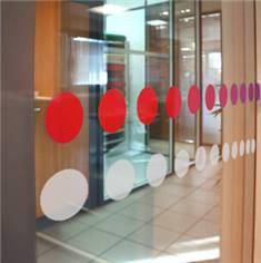 Ronds adhésifs pour vitres - lot de 15 ronds