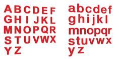 Lettre découpée Rouge en PVC d´ép. 5 mm - Gamme Hype