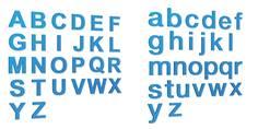 Lettre en relief Bleue en PVC d´ép. 5 mm - Gamme Hype