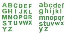 Lettre découpée Verte en PVC d´ép. 5 mm - Gamme Hype