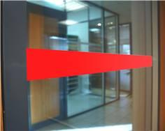 Bande de vigilance de 10 mètres colorées pour vitres - Hauteur 5 cm
