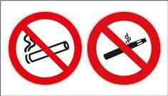 Panneau défense de vapoter et interdiction de fumer