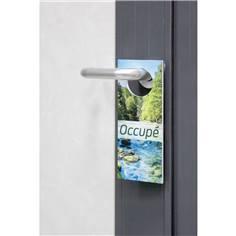 Panonceau pour poignée de porte Occupé / libre décor nature en PVC 3 mm