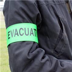 Brassard de sécurité avec texte personnalisé - Lot de 10