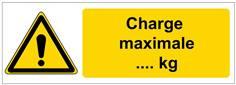 Panneau Danger Charge Maximale de ... kg personnalisé