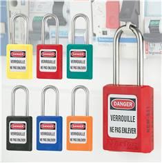 Cadenas avec anse inox - H 38 mm - clés différentes + passe-partout