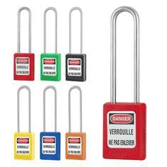 Cadenas avec anse inox - H 76 mm - clés différentes + passe-partout