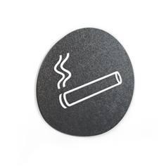 Signalétique Touchy® Disk - Picto Zone fumeurs - Diamètre Ø120 mm