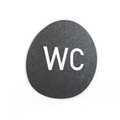 Signalétique Touchy® Disk - WC - Diamètre Ø120 mm