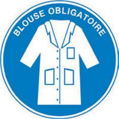 Signalétique blouse obligatoire - STF 2222S