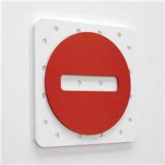 Plaque de porte Plug&Play  - 120 x 120 mm - sens interdit