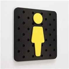 Plaque de porte Plug&Play  - 120 x 120 mm - WC femme