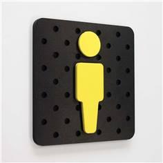 Plaque de porte Plug&Play - 120 x 120 mm - WC homme