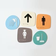 Plaques de porte PVC antibactérien Touchy®
