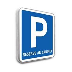 Panneau de stationnement – Parking Réservé au cabinet
