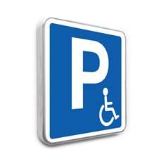 Panneau de stationnement – Parking Réservé Handicapés