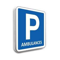 Panneau de stationnement – Parking Réservé Ambulances