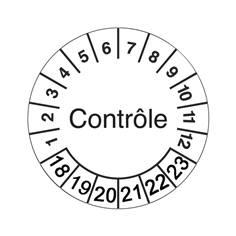 Pastilles calendrier contrôle