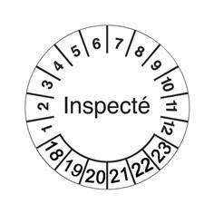 Pastilles calendrier inspecté