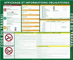 Code du travail - Affichage obligatoire