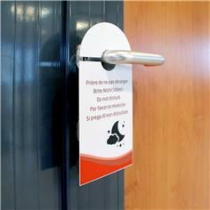 Accroche-portes 5 langues pour chambre d´hôtel - En papier glacé