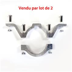 Lot de 2 Colliers simples pour poteau de Ø 90 mm