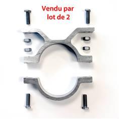 Lot de 2 colliers simples pour poteau de diamètre 76 mm
