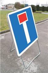 Panneau Temporaire Chemin Sans Issue sur pied solidaire - CK13a - 700 x 700 mm