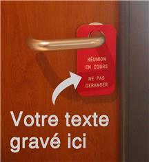 Etiquette de poignée de  porte gravée - Texte personnalisé - 70 x 130 mm