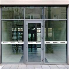 Bande adhésive pour vitre - Texte d´accueil - Longueur 1.1m