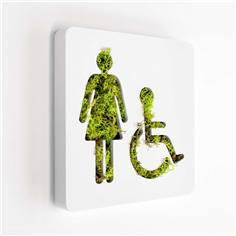 Plaque de porte Like´n Box - Toilettes Handicapés Femmes - DESTOCKAGE