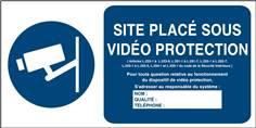 Panneau vidéo protection à compléter - Code de la sécurité intérieure