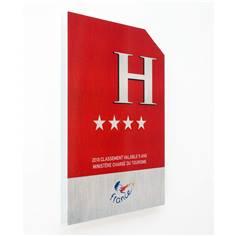 Plaque de classement hôtel