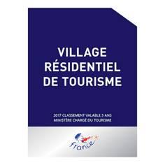 Panneau village résidentiel de tourisme