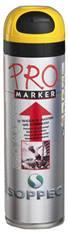 Peinture de marquage temporaire en aérosol pour chantier - Couleur Jaune - 650 ml