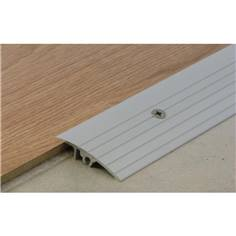 Mini rampe de seuil en aluminium anodisé naturel - pré-percé - Trafic intensif - Longueur 3000 mm