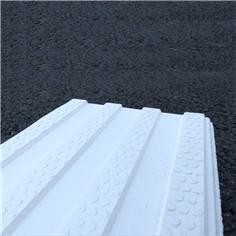 BAO en résine thermoplastique - 220 x 500 mm - 4 canelures - Blanche - Extérieur