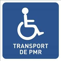 Panneau véhicule - mention transport PMR