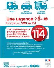 Panneau appel d'urgence 114