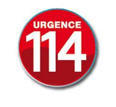 Macaron appel d'urgence 114 - Ø 100 mm