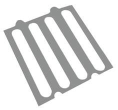 Gabarit de pose pour Barrette podotactile en aluminium pré-adhésivée